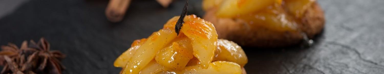 Poires au miel et aux épices (biscuit semoule)