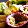 Bûche aux fruits exotiques version charlotte