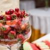 Sorbet au yaourt, compotée de fruits rouges